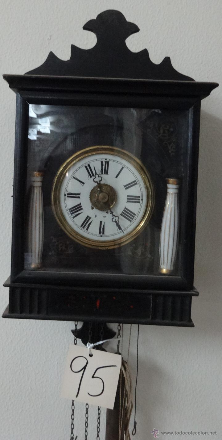 Relojes de pared: RELOJ DE PARED SELVA NEGRA CON COLUMNAS 1880 A 1915, 6000-095 - Foto 2 - 43449024
