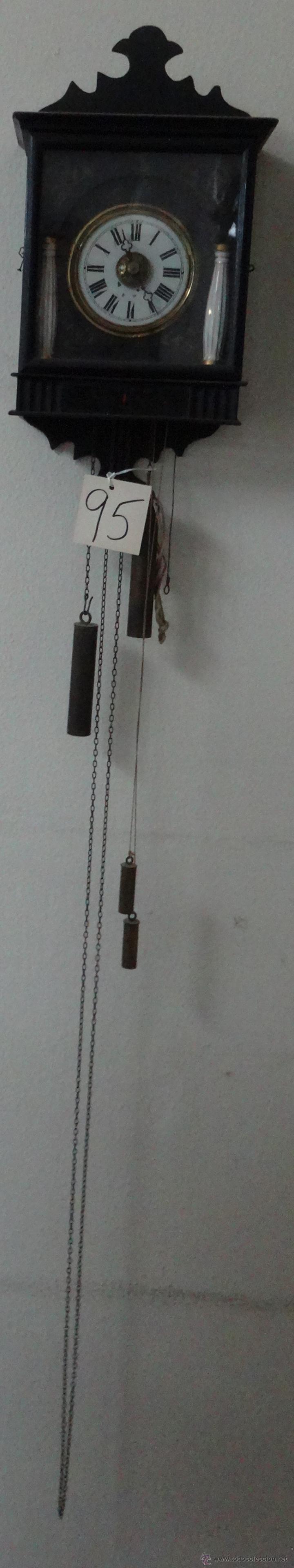 Relojes de pared: RELOJ DE PARED SELVA NEGRA CON COLUMNAS 1880 A 1915, 6000-095 - Foto 4 - 43449024