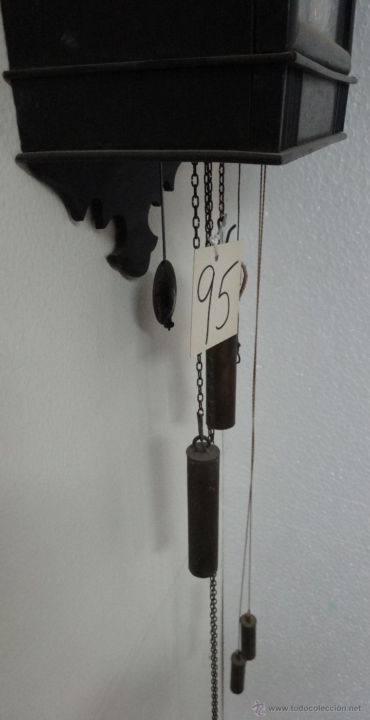 Relojes de pared: RELOJ DE PARED SELVA NEGRA CON COLUMNAS 1880 A 1915, 6000-095 - Foto 5 - 43449024