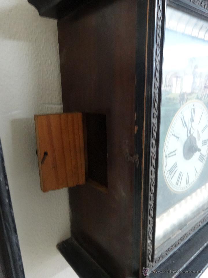 Relojes de pared: RELOJ DE PARED SELVA NEGRA SIGLO XIX, 6000-097 - Foto 6 - 43449097