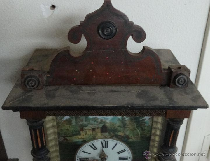 Relojes de pared: RELOJ DE PARED SELVA NEGRA SIGLO XIX, 6000-098 - Foto 4 - 43449160