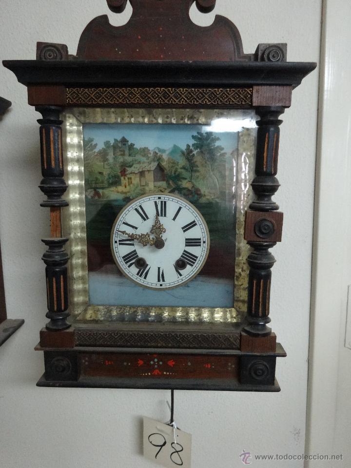Relojes de pared: RELOJ DE PARED SELVA NEGRA SIGLO XIX, 6000-098 - Foto 6 - 43449160