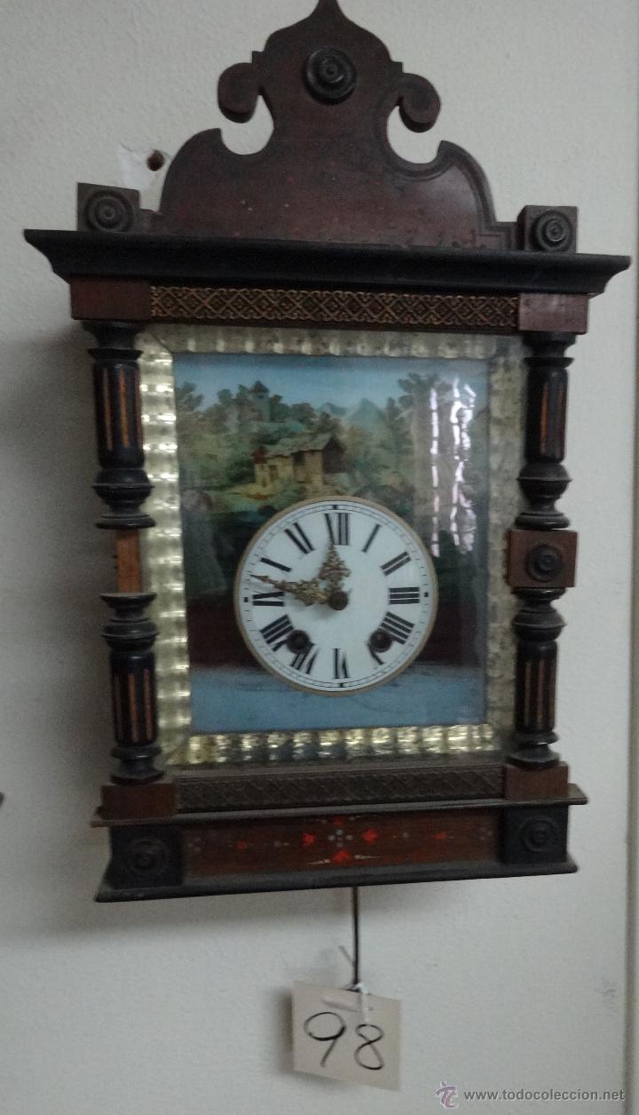 Relojes de pared: RELOJ DE PARED SELVA NEGRA SIGLO XIX, 6000-098 - Foto 10 - 43449160