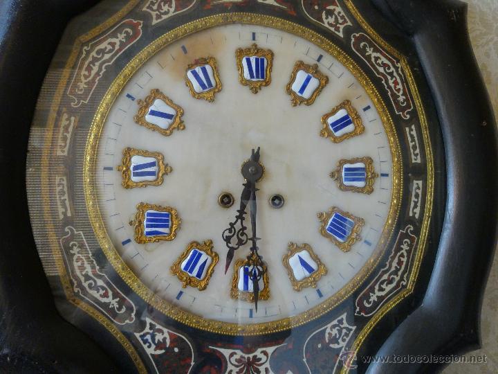 Relojes de pared: RELOJ DE PARED EN MADERA ESTILO ISABELINO SIGLO XIX-XX- 664 - Foto 2 - 43844710