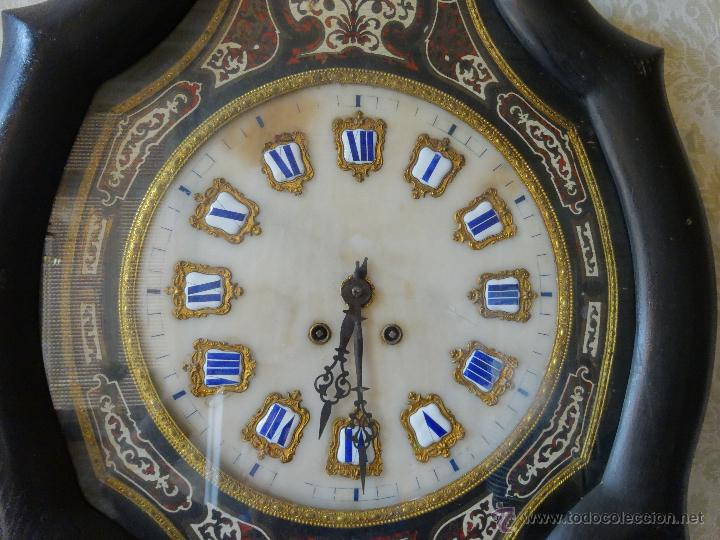 Relojes de pared: RELOJ DE PARED EN MADERA ESTILO ISABELINO SIGLO XIX-XX- 664 - Foto 3 - 43844710