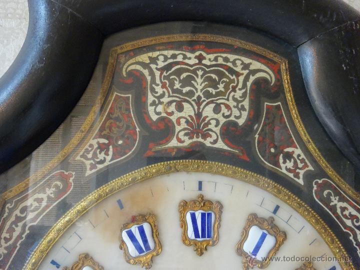 Relojes de pared: RELOJ DE PARED EN MADERA ESTILO ISABELINO SIGLO XIX-XX- 664 - Foto 4 - 43844710