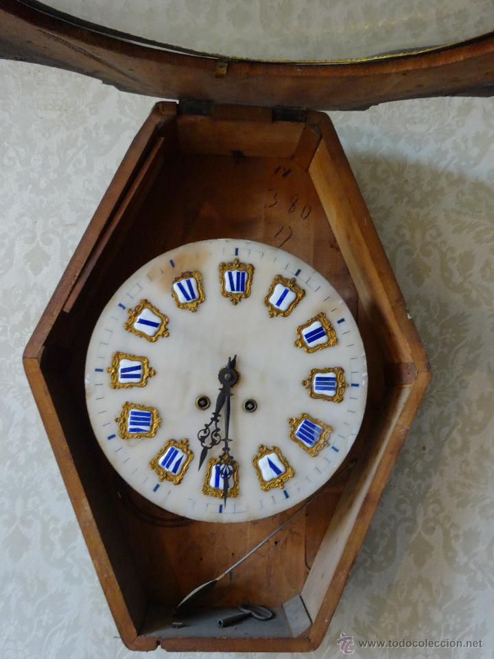 Relojes de pared: RELOJ DE PARED EN MADERA ESTILO ISABELINO SIGLO XIX-XX- 664 - Foto 5 - 43844710