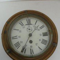 Relojes de pared: RELOJ DE COLGAR EN LOS BARCOS, FIRMADO HAPY FREDES, SOBRE EL AÑO 1900. DIÁMETRO 20 CM. Lote 45701611