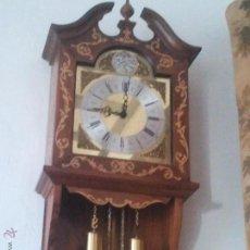 Relojes de pared: PRECIOSO RELOJ DE PARED TEMPUS FUGIT. Lote 45756917