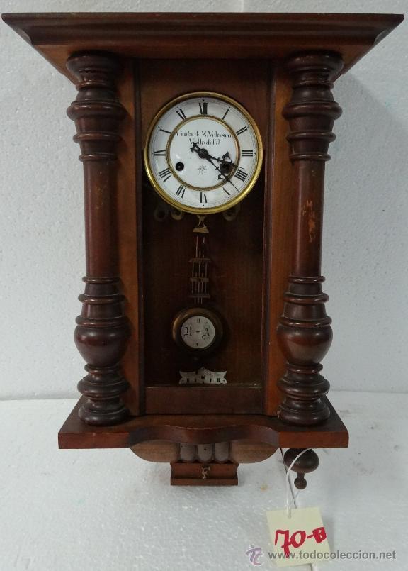 RELOJ DE PARED CON PÉNDULO UNGHANS´J- SIGLO XX - 70B (Relojes - Pared Carga Manual)