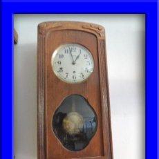 Relojes de pared: LIQUIDACION BONITO RELOJ DE MADERA DE ROBLE ART DECO ADMITO OFERTAS. Lote 30449681