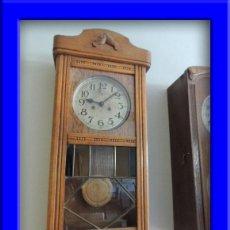 Relojes de pared: LIQUIDACION RELOJ DE PARED MODERNISTA CON CAJA DE ROBLE. ADMITO OFERTAS. Lote 171362437