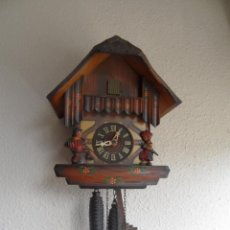 Relojes de pared: ANTIGUO RELOJ CUCO MECÁNICO DE MADERA ALEMÁN CUCU. Lote 45992129
