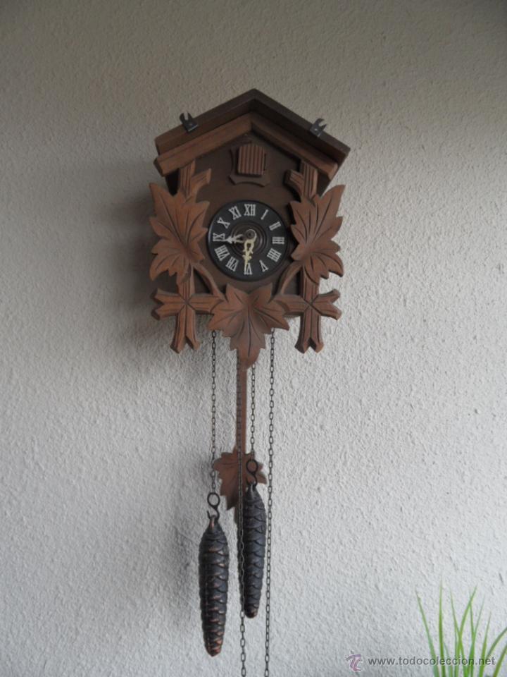 Antiguo reloj madera alem n cuco cucu comprar relojes - Relojes pared antiguos ...