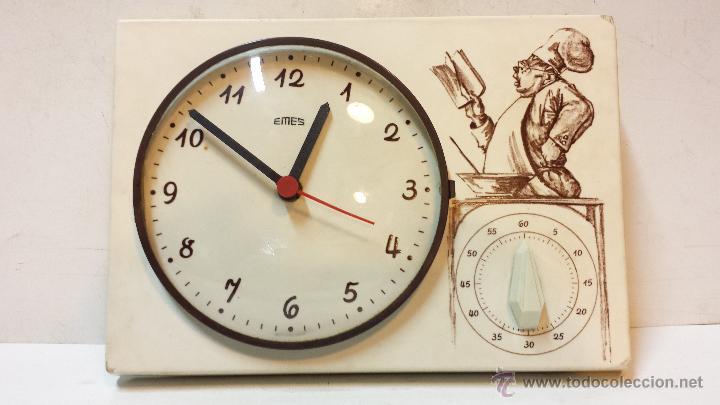 Reloj de cocina aleman marca emes de porcelana comprar - Relojes pared cocina ...