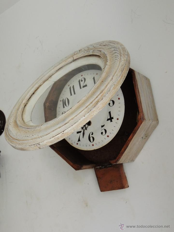 Relojes de pared: BONITO RELOJ DE PARED EN DECAPE - Foto 4 - 46581062
