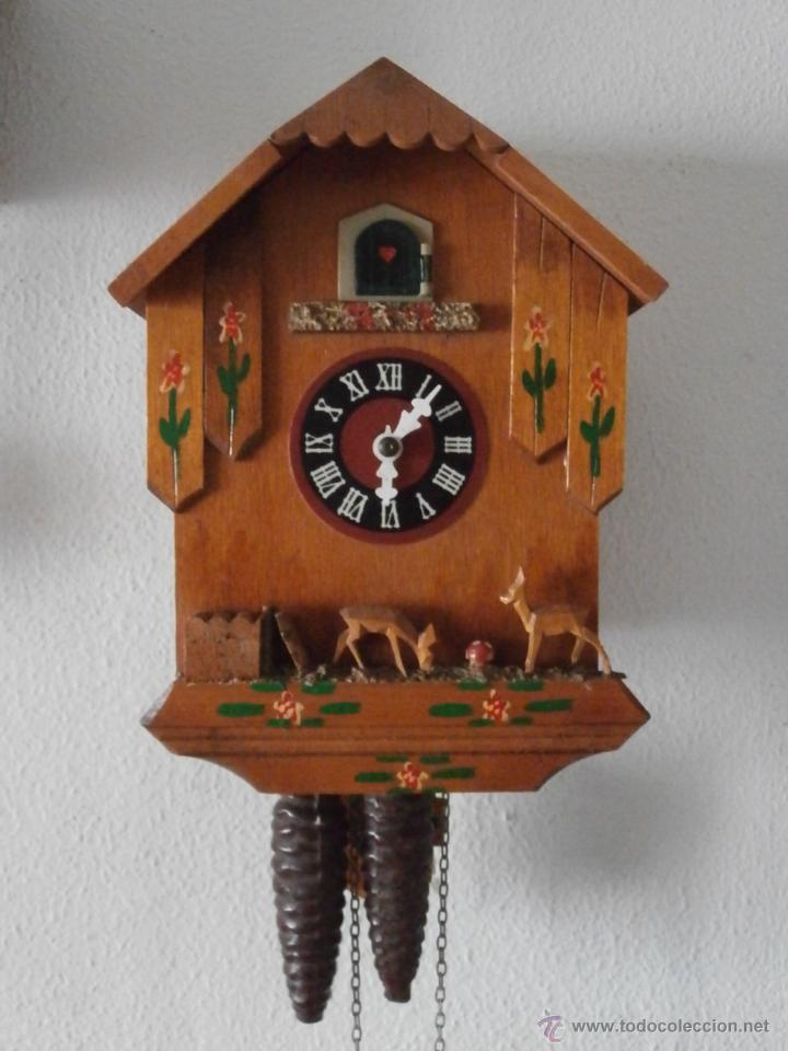 Reloj antiguo de pared alem n cucu cuco p ndulo comprar for Reloj de pared antiguo