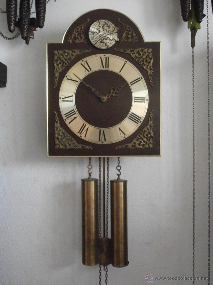 Reloj antiguo de pared alem n con sistema de pe comprar for Reloj de pared antiguo