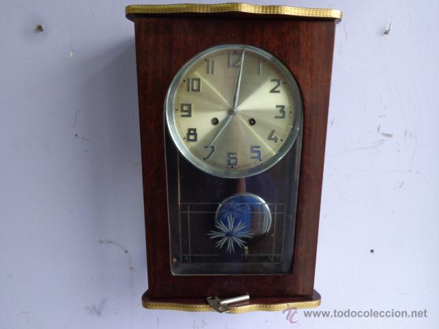 Antiguo raro y precioso reloj pared soneria h comprar - Relojes pared antiguos ...