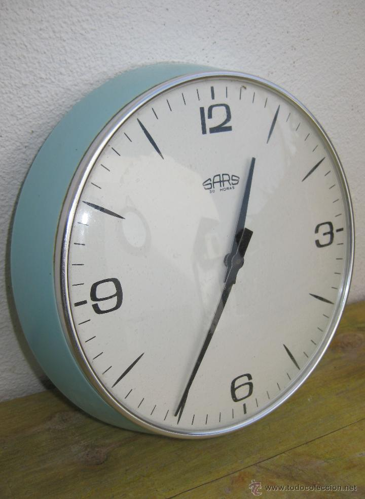 Reloj pared vintage azul retro o pop sars a os comprar for Reloj pared retro