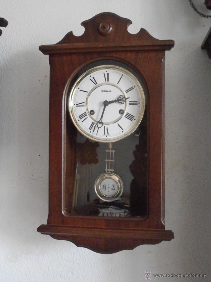 Reloj antiguo alem n de pared mec nico a cuerda comprar relojes antiguos de pared carga manual - Relojes pared antiguos ...