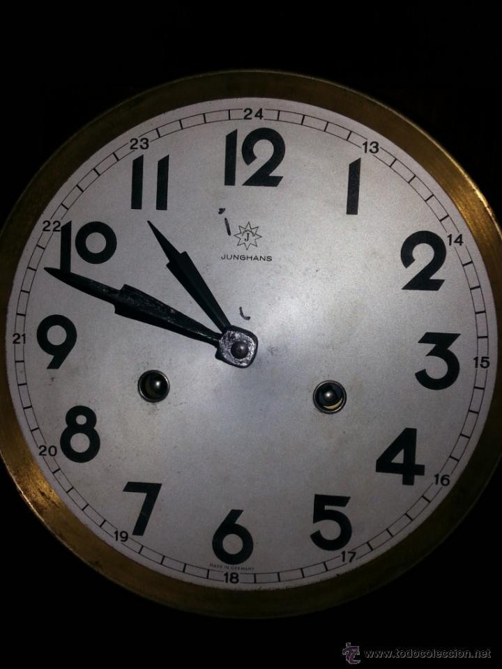 Relojes de pared: JUNGHANS, RELOJ DE PÉNDULO DE PARED. CIRCA 1925. PARA REPASO. CAJA DE NOGAL. - Foto 8 - 47996701