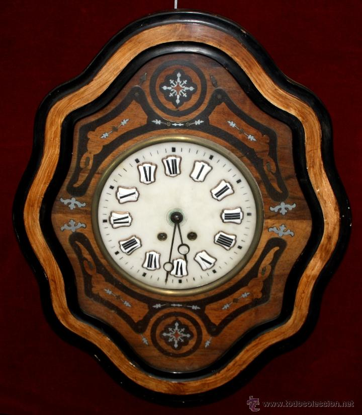 BONITO RELOJ OJO DE BUEY DEL SIGLO XIX (Relojes - Pared Carga Manual)
