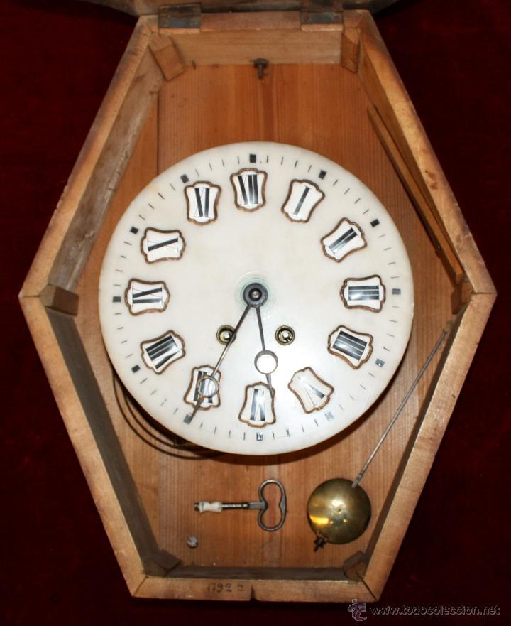 Relojes de pared: BONITO RELOJ OJO DE BUEY DEL SIGLO XIX - Foto 3 - 48448717