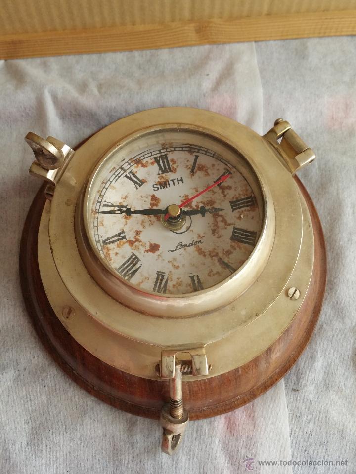 Antiguo reloj de pared london smith con forma d comprar relojes antiguos de pared carga manual - Relojes pared antiguos ...