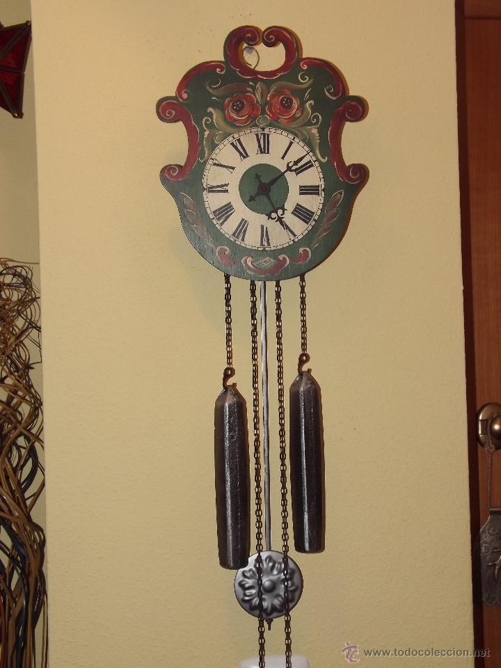 reloj de pared con bonitos dibujos de flores pi  Comprar Relojes