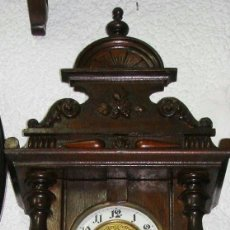 Relojes de pared: PRECIOSO RELOJ DE PARED CON SONERIA. MARCA ALIX. ESFERA DE ESMALTE. FUNCIONA. CON LLAVE.. Lote 48732247