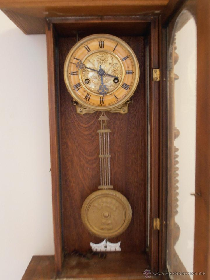 Magnifico reloj de pared de madera antiguo comprar - Relojes rusticos de pared ...