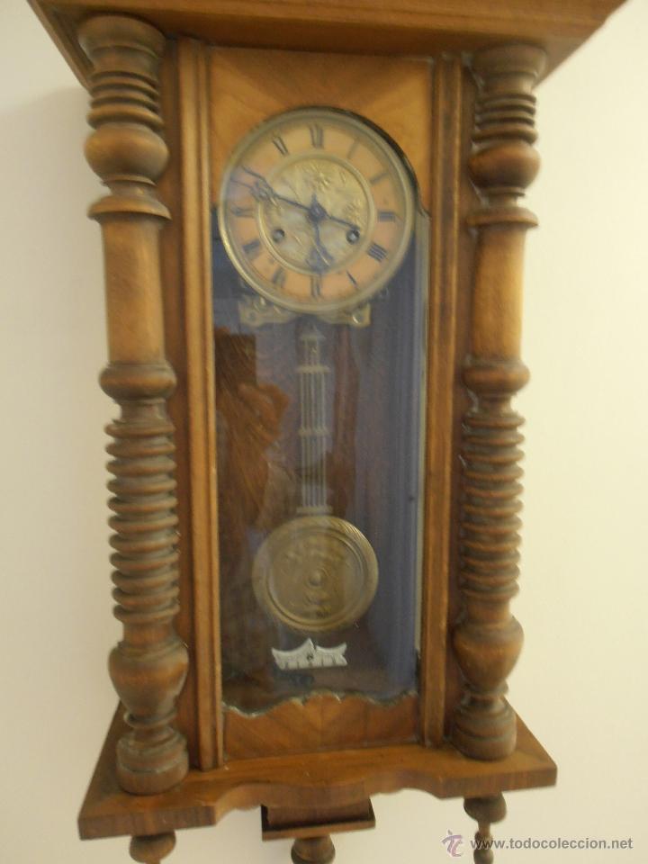Magnifico reloj de pared de madera antiguo comprar - Comprar mecanismo reloj pared ...