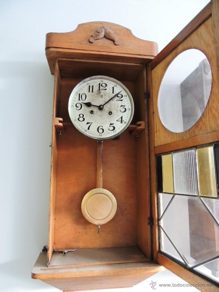 Relojes de pared: LIQUIDACION RELOJ DE PARED MODERNISTA CON CAJA DE ROBLE. ADMITO OFERTAS - Foto 2 - 171362437