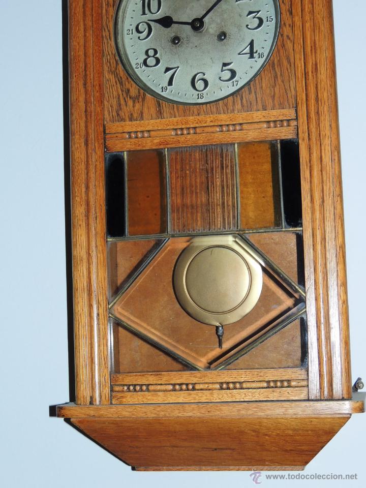 Relojes de pared: LIQUIDACION RELOJ DE PARED MODERNISTA CON CAJA DE ROBLE. ADMITO OFERTAS - Foto 4 - 171362437