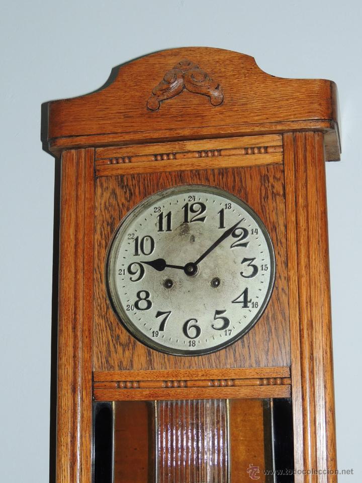 Relojes de pared: LIQUIDACION RELOJ DE PARED MODERNISTA CON CAJA DE ROBLE. ADMITO OFERTAS - Foto 5 - 171362437