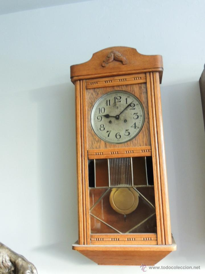 Relojes de pared: LIQUIDACION RELOJ DE PARED MODERNISTA CON CAJA DE ROBLE. ADMITO OFERTAS - Foto 6 - 171362437