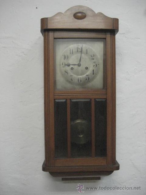 a8aa04c3592b Reloj antiguo de pared de péndulo marca largo c - Vendido en Venta ...