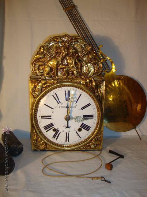 Elegante reloj antiguo moret j willmann comprar relojes antiguos de pared carga manual - Relojes pared antiguos ...