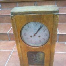 Relojes de pared: RELOJ ANTIGUO METRON DE PARED MECÁNICO A CUERDA CON PÉNDULO. . Lote 49172317