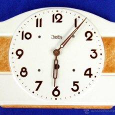 Relojes de pared: RELOJ PORCELANA ZENTRA KIENZLE. FUNCIONANDO. Lote 49369219