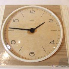 Relojes de pared: PRECIOSO RELOJ DE PARED VINTAGE DE LOS AÑOS 70-80 MARCA DIEHL DE 19CM. Lote 49553156