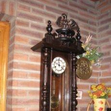 Relojes de pared: !!ENORME RELOJ ALFONSINO KIENZLE-ALEMANIA- AÑO 1890-1914. Lote 49667719