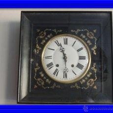 Relojes de pared: RELOJ DE PARED MARQUETERIA METALICA S. XIX. Lote 49762330