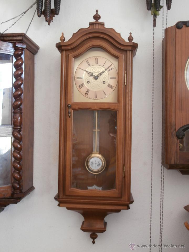 Antiguo reloj de pared alem n de cuerda mec nic comprar for Reloj de pared con pendulo