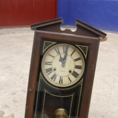 Relojes de pared: ANTIGUO RELOJ DE PARED MARCA LAVA, DE 79 CMS. DE ALTO, FUNCIONANDO.... Lote 49880459