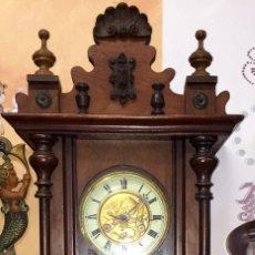 Relojes de pared: PRECIOSO RELOJ ALFONSINO KIENZLE CON PAJAROS-ALEMANIA- AÑO 1890-191O. Lote 102960476