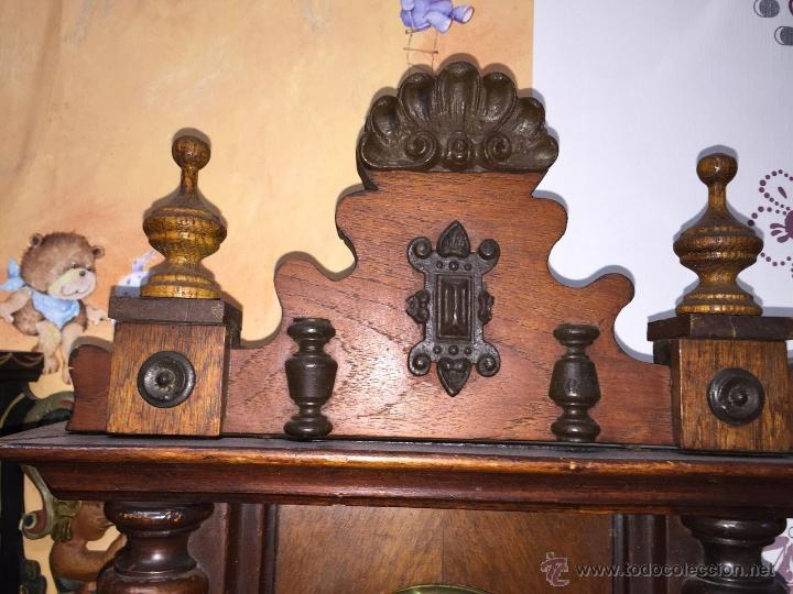 Relojes de pared: precioso reloj alfonsino KIENZLE con pajaros-Alemania- año 1890-191o - Foto 3 - 102960476