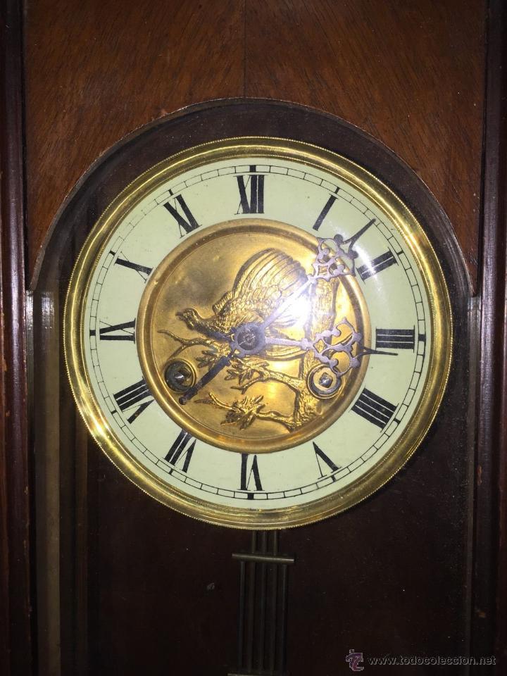 Relojes de pared: precioso reloj alfonsino KIENZLE con pajaros-Alemania- año 1890-191o - Foto 4 - 102960476