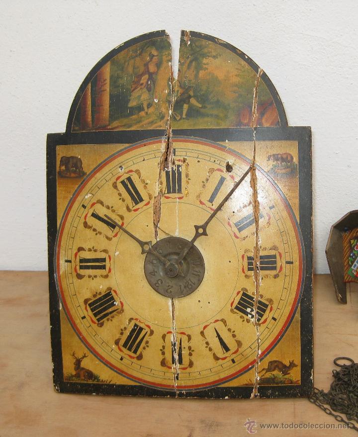 Precioso reloj muy antiguo tipo ratera pintado vendido en subasta 49997185 - Relojes pared antiguos ...